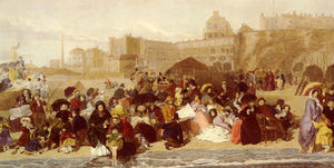 William Powell Frith - Vida nas areias à beira-mar em Ramsgate