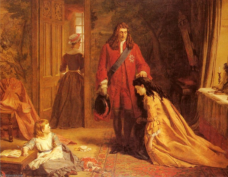 Um incidente no vida de maria montague wortley por William Powell Frith (1819-1909, United Kingdom) | Copy Pintura | WahooArt.com