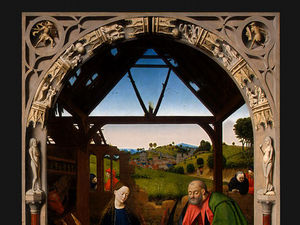 Petrus Christus - A natividade , detalj 2 , ng washington