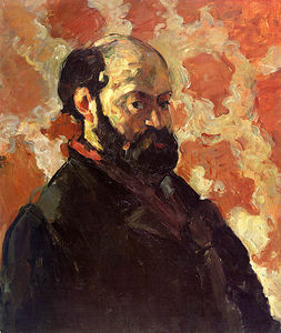 Paul Cezanne - Self-portrait num rosa fundo , galerie