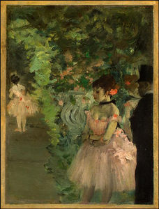 Edgar Degas - dançarinos backstage , ng washington