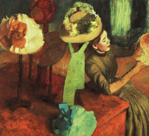 Edgar Degas - a loja do millinery , instituto de arte de chicago