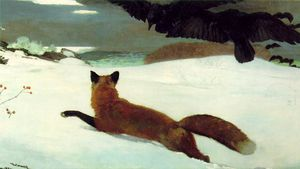 Winslow Homer - The fox hunt pensylvania academy of the belas artes