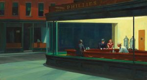 Edward Hopper - Nighthawks , a arte Instituto de chicago , Chica