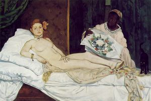 Edouard Manet - Olympia , Musee d-Orsay , Paris