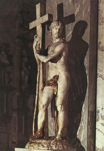 Michelangelo Buonarroti - cristo `carrying` a cruz