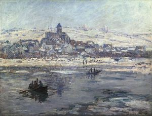 Claude Monet - vetheuil no inverno , ou frick co