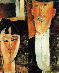 Amedeo Modigliani - Bride and Groom (A Newlyweds)
