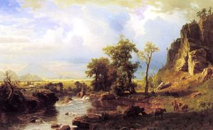 Albert Bierstadt - Norte Garfo do platte nebraska