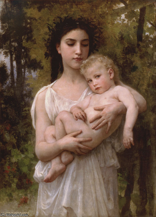pouco irmão por William Adolphe Bouguereau (1825-1905, France)