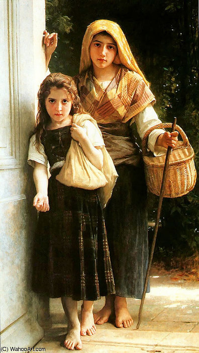 Mendiantes Petites por William Adolphe Bouguereau (1825-1905, France)