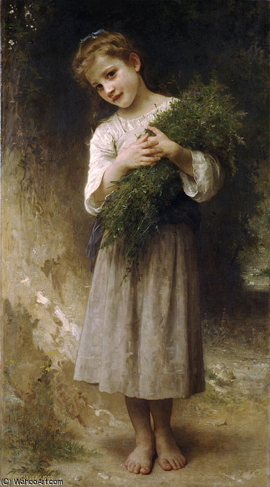devolvida a partir de  o  Campos  por William Adolphe Bouguereau (1825-1905, France) | Copy Pintura | WahooArt.com