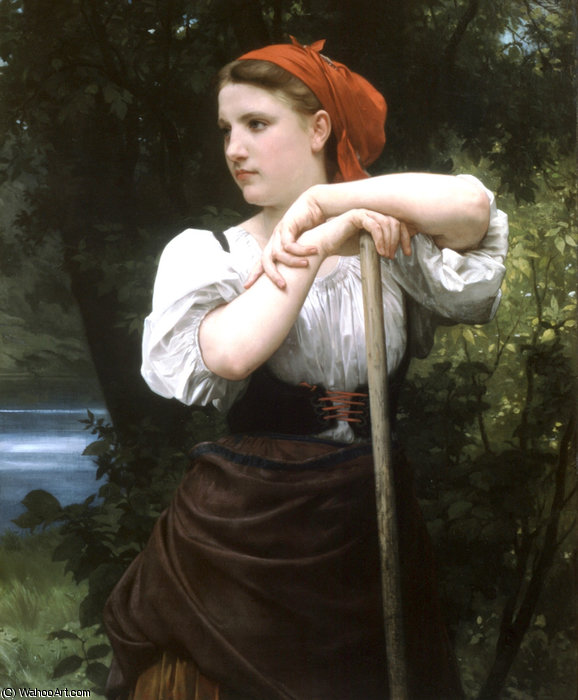 O haymaker por William Adolphe Bouguereau (1825-1905, France) | Copy Pintura | WahooArt.com