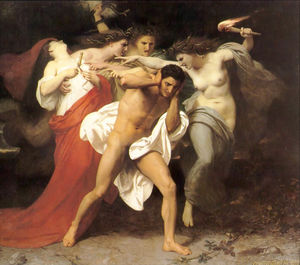 William Adolphe Bouguereau - O remorso de Orestes