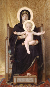 William Adolphe Bouguereau - o sentado madonna