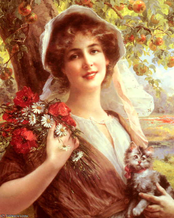 país do verão por Emile Vernon (1872-1920, France)