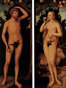 Lucas Cranach The Younger - adam e véspera