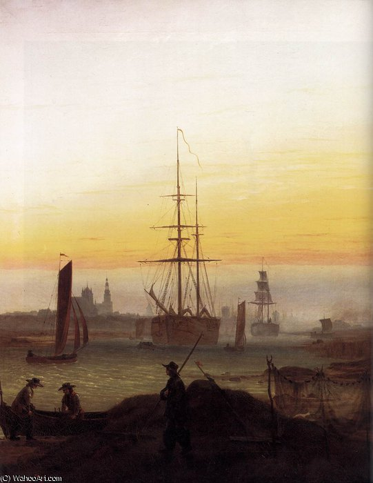 abrigo, 1811 por Caspar David Friedrich (1774-1840, Germany)