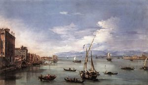 Francesco Lazzaro Guardi - A Lagoa da Fondamenta Nuove