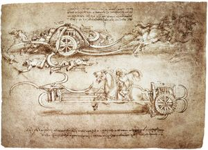 Leonardo Da Vinci - engineering-Assault caminhão com foices