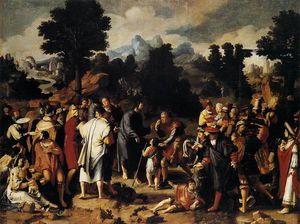 Lucas Van Leyden - Paintings-Christ Cura o cego