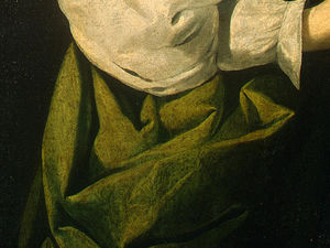 Francisco Zurbaran - santa luzia , detlalj 5 , c . ng washington