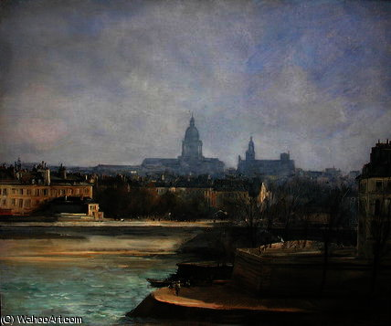 Ile de la Cite por Antoine Vollon (1833-1900, France)
