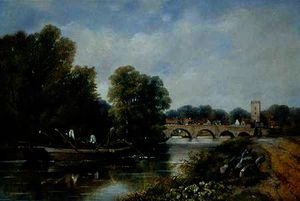 Frederick Waters (William) Watts - a ponte na Henley-on-Thames