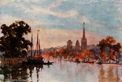 Rouen do Rio por Herbert Menzies Marshall (1841-1913, United Kingdom) | Copy Pintura | WahooArt.com