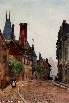 O museu cujas , bourges por Herbert Menzies Marshall (1841-1913, United Kingdom)