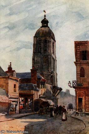 Tour de l Horlage, Tours por Herbert Menzies Marshall (1841-1913, United Kingdom)