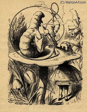 Conselho de Caterpillar por John Tenniel (1820-1914, United Kingdom)