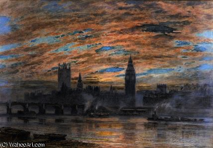 Westminster do Surrey Banco por Joseph Arthur Palliser Severn (1842-1931, United Kingdom) | WahooArt.com
