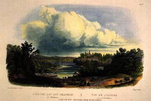 Karl Bodmer - vista no delaware perto de bordentown