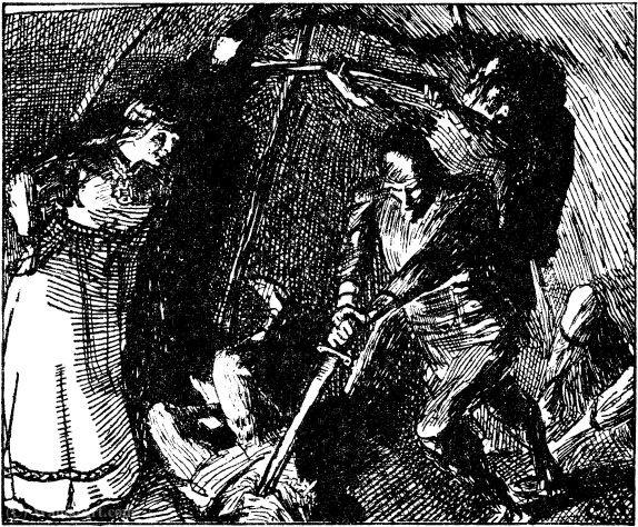 Harald Haarfagres saga - Gunnhild lar finnene drepe por Christian Krohg  (1852-1925 fd7b0ee4d4ce3