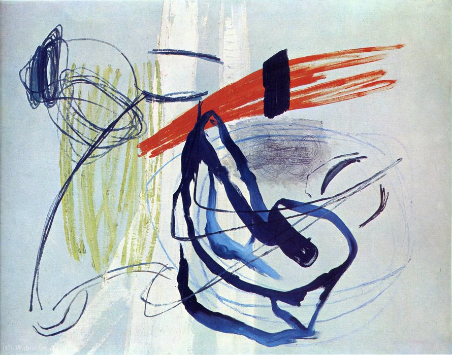 Untitled (949) por Hans Heinrich Hartung (1904-1989, Germany)