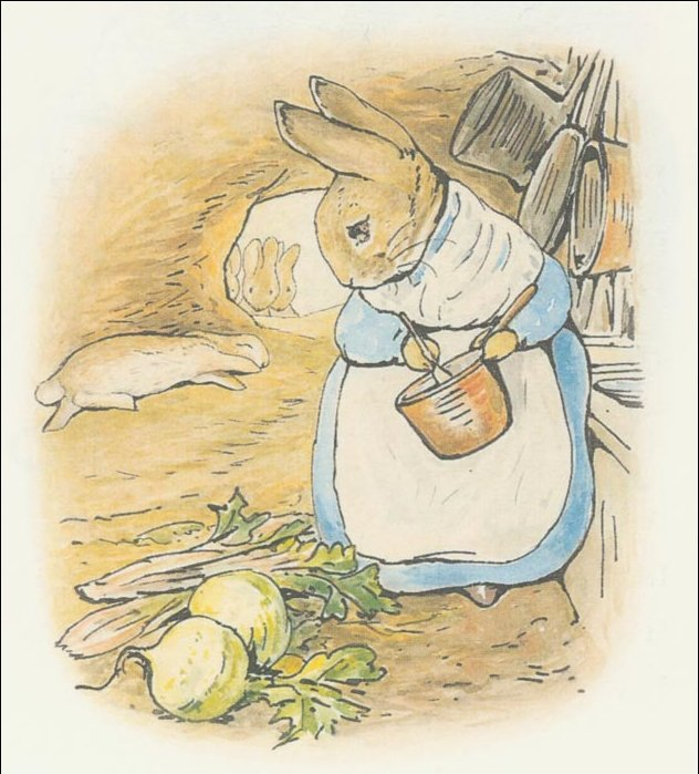 Peter 30a coelho - (11x11) por Beatrix Potter (1866-1943)
