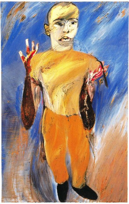 Untitled (665) por Francesco Clemente