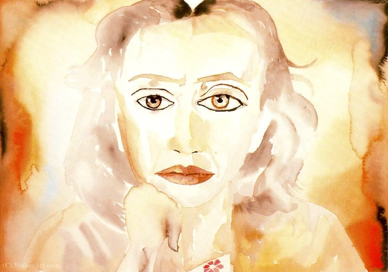 Untitled (819) por Francesco Clemente | Copy Pintura | WahooArt.com