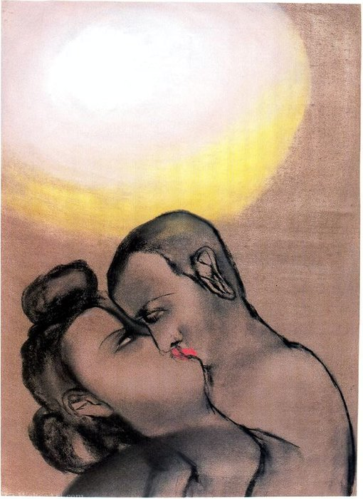 Untitled (731) por Francesco Clemente | Copy Pintura | WahooArt.com