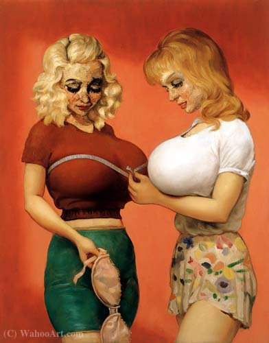 O Bra Shop 2 (1997) por John Currin