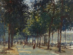 Edward Seago - Canto do Champs Elysees