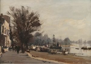 Edward Seago - Strand on the Green, Chiswick