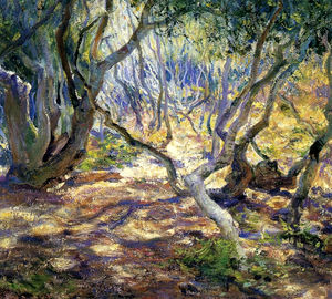 Guy Rose - Bosque de carvalhos, carmel, (1919)