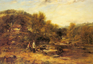 Frederick Waters (William) Watts - Anglers por um córrego