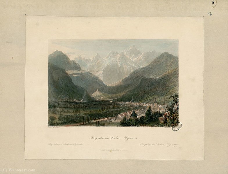 Bagneres de Luchon por Thomas Allom (1804-1872, United Kingdom)