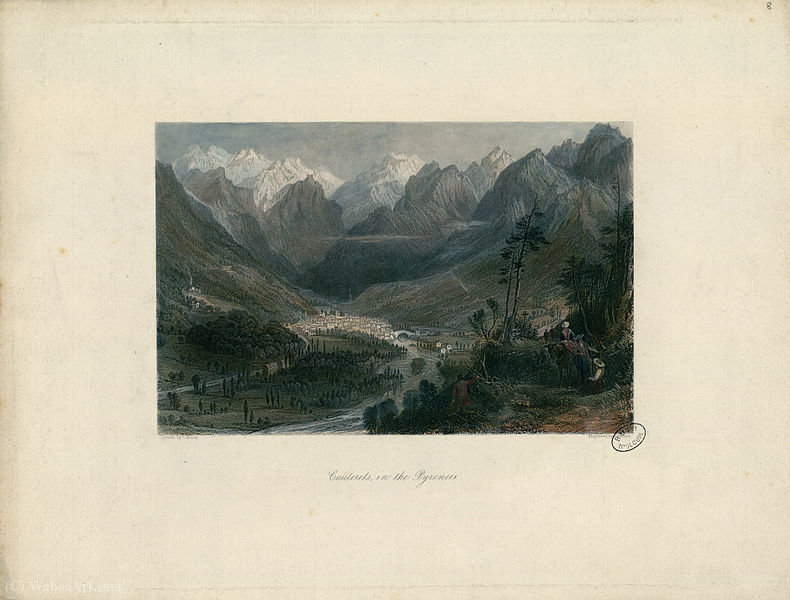 Cauterets, nos Pirinéus por Thomas Allom (1804-1872, United Kingdom)
