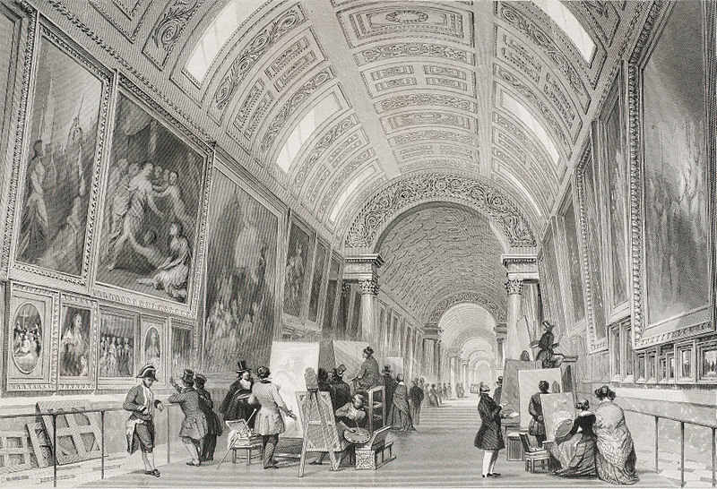 Grande Galerie grelha por Thomas Allom (1804-1872, United Kingdom)