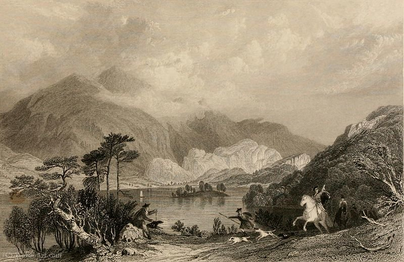 Loch Achray, Perthshire por Thomas Allom (1804-1872, United Kingdom)
