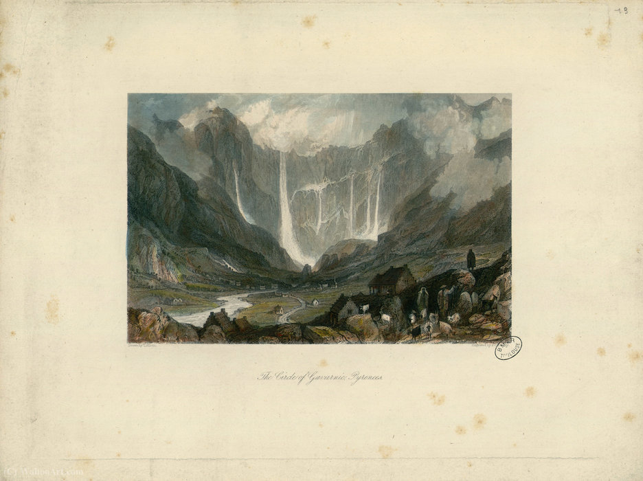 O Círculo de Gavarnie por Thomas Allom (1804-1872, United Kingdom)
